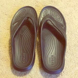 Black Crocs Flipflops